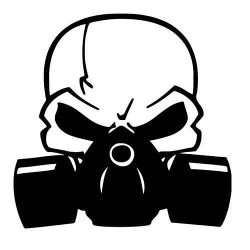 Gas Mask Outline Metal...