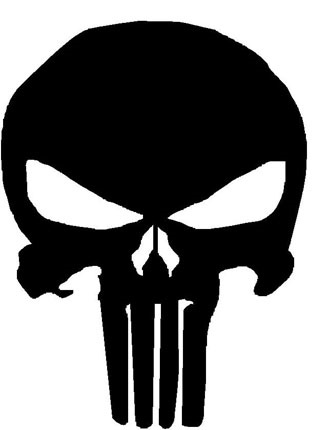 Gallery For gt Punisher Skull Outline